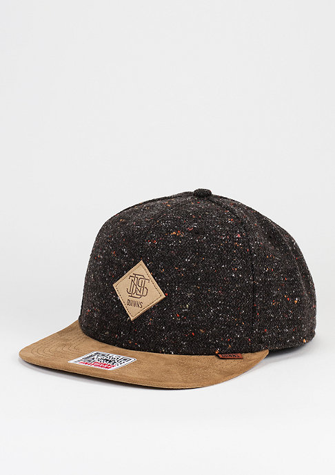Djinn's Snapback-Cap Spotted Wool Pique brown