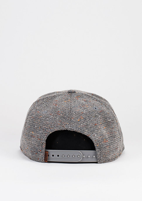 Djinn's Snapback-Cap Spotted Wool Pique grey