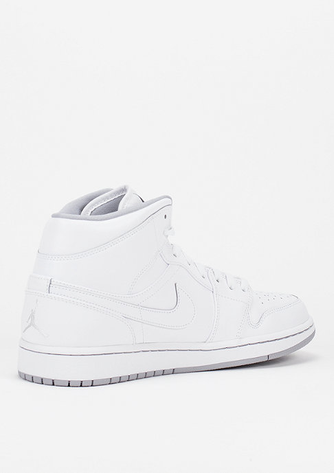 JORDAN Air Jordan 1 Mid white/white/wolf grey
