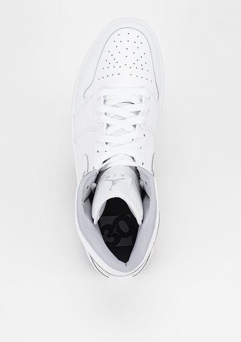 JORDAN Basketballschuh Air Jordan 1 Mid white/white/wolf grey