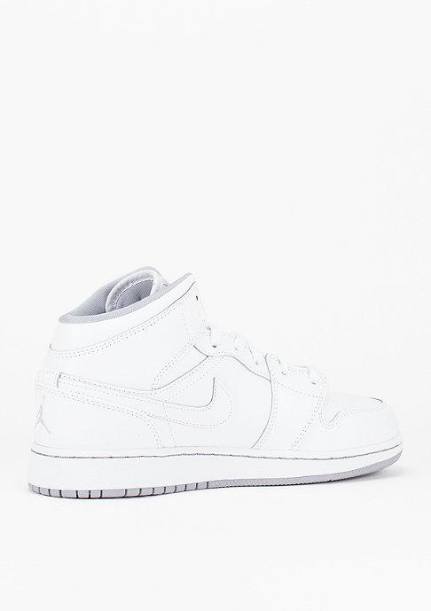 JORDAN Air Jordan 1 Mid white/white/wolf grey
