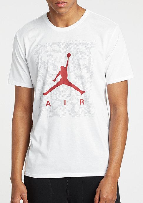 JORDAN T-Shirt Jumpman Ele Camo Dri-Fit white/gym red