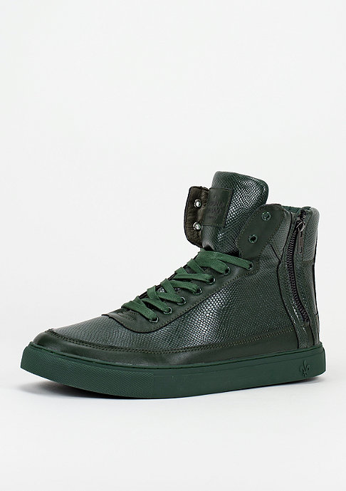 Criminal Damage CD Shoes Python Mid Top olive