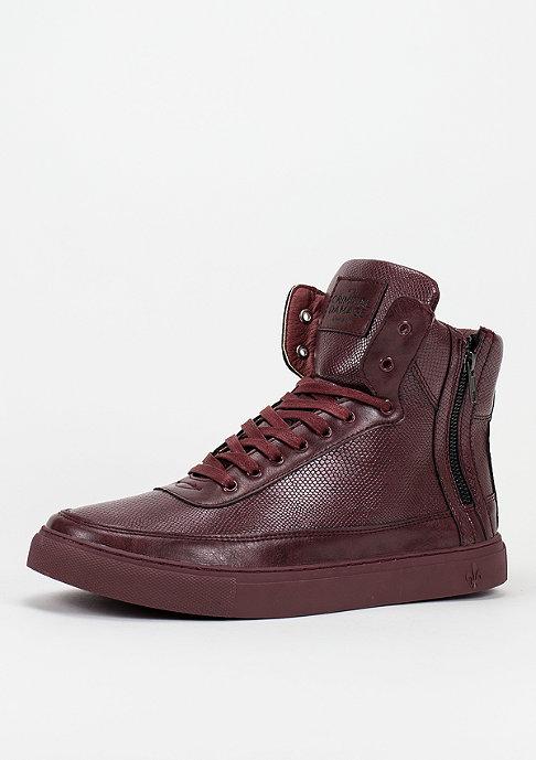 Criminal Damage CD Shoes Python Mid Top burgundy