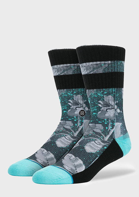 Stance Grayscale Floral blue