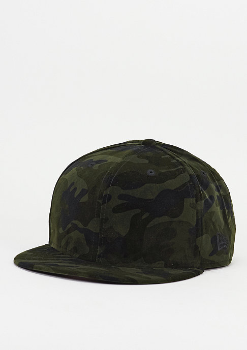 New Era Snapback-Cap Camo dark green