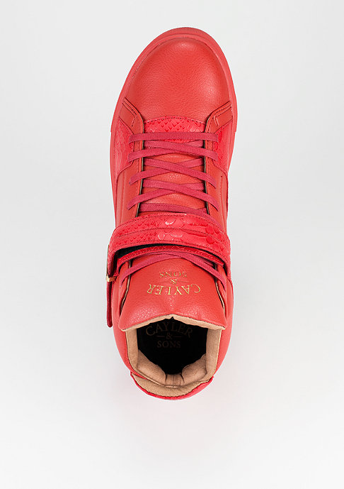 Cayler & Sons Schuh Sashimi flame red/red python