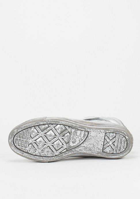 Converse CTAS Brea Mono Leather Hi silver/silver