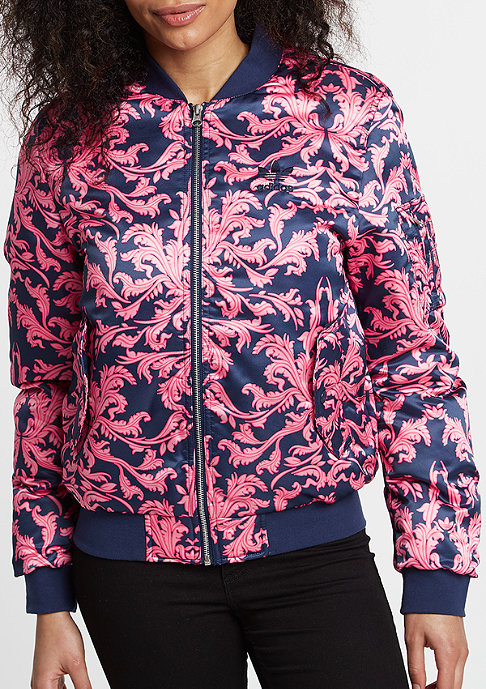 adidas Jas AOP Satin Bomber dark blue/pink