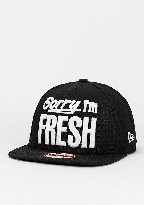 New Era Sorry I'm Fresh black/white