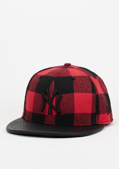New Era Fitted-Cap Lumberjack MLB New York Yankees scarlet