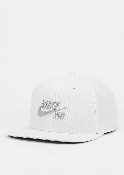 NIKE SB Snapback-Cap SB Icon white/wolf grey/black