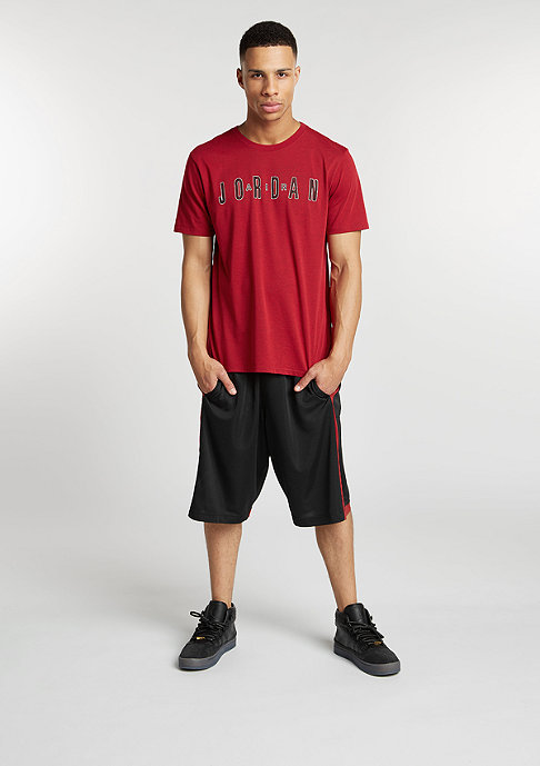 JORDAN Sportshort Crossover black/gym red/gym red