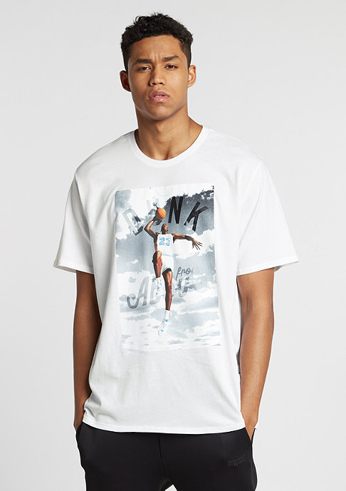 JORDAN T-Shirt Dunk From Above white/black