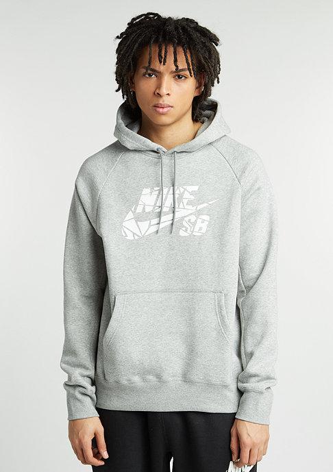 NIKE Hooded-Sweatshirt SB Icon Griptape dark grey heather/white