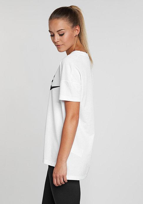 NIKE T-Shirt Signal Logo white/black