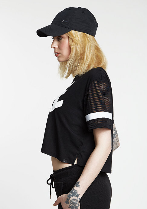 NIKE T-Shirt Prep Mesh black/white