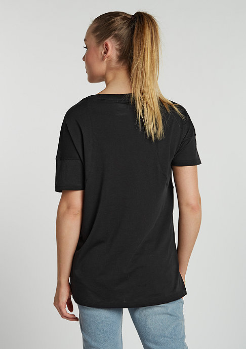 NIKE T-Shirt Stripe black/white