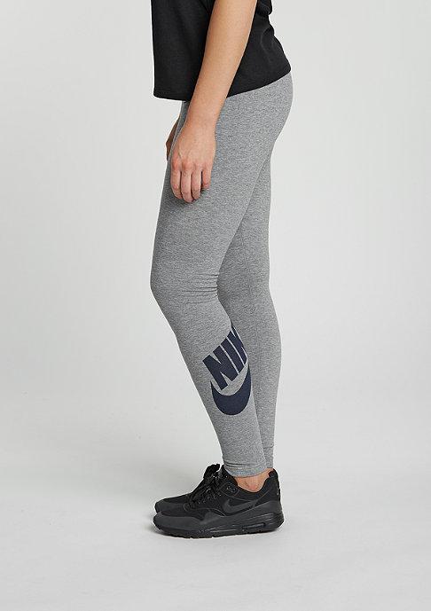 NIKE Leggings Leg-A-See Logo carbon heather/black
