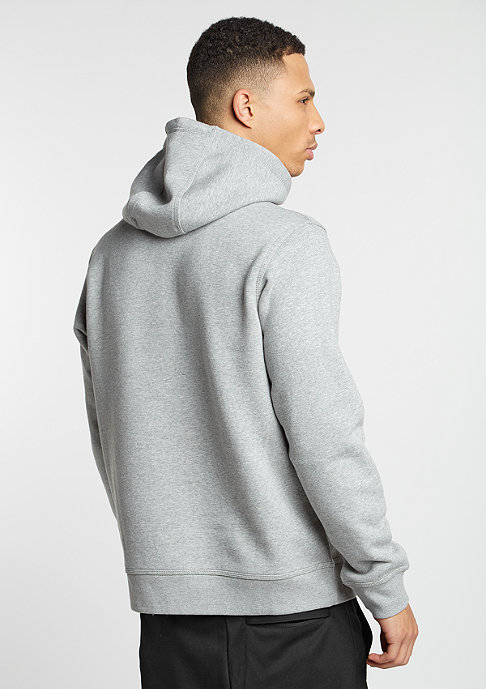 NIKE Hooded-Sweatshirt Club Swoosh dark grey/white