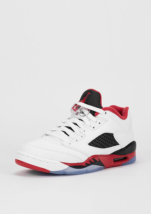 JORDAN Basketballschuh Air Jordan 5 Retro Low (GS) white/fire red/black