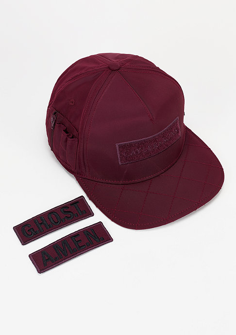 Cayler & Sons Snapback-Cap Flight maroon/orange