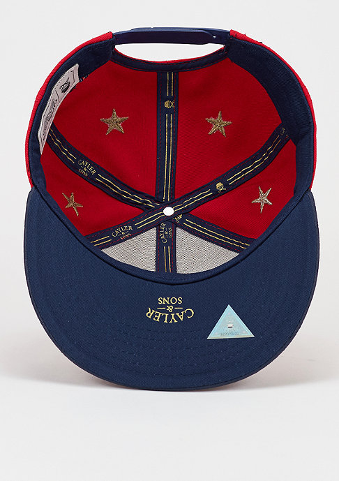 Cayler & Sons Snapback-Cap WL Stay true red/deep navy/gold