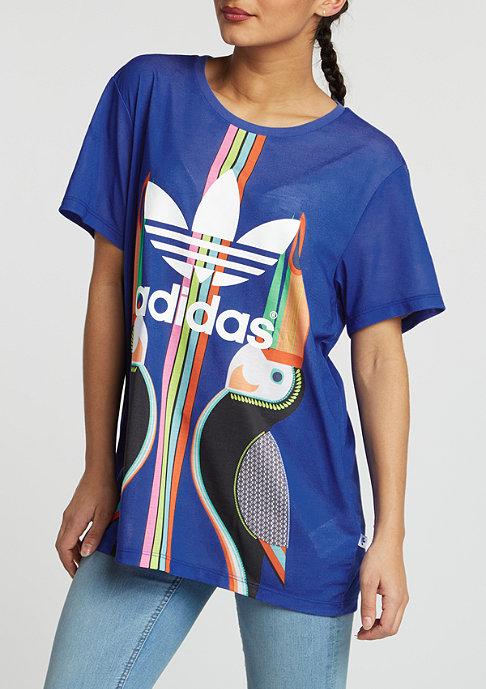 adidas T-Shirt BF Trefoil lab blue