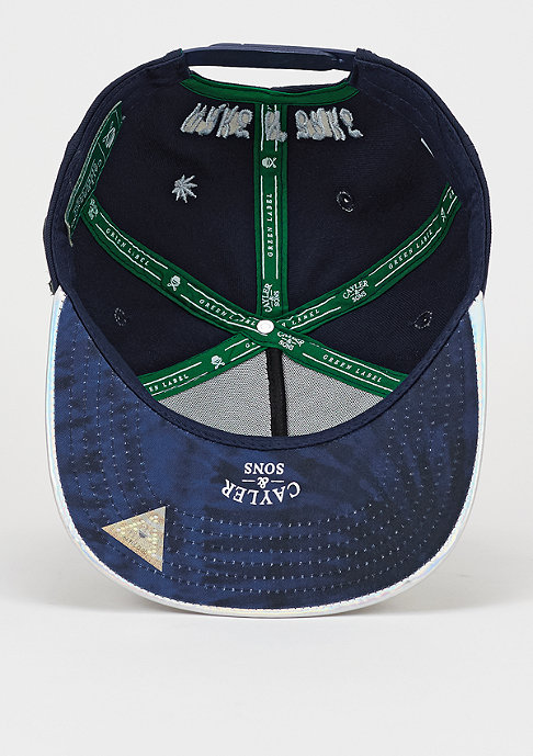 Cayler & Sons Snapback-Cap GL Super Baked navy/navy tie dye/holographic
