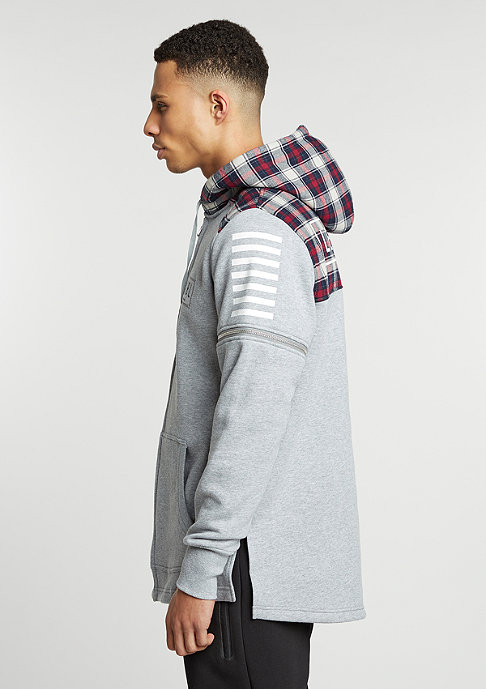 Cayler & Sons C&S BL Zip Hooded CSBL grey heather/red checked