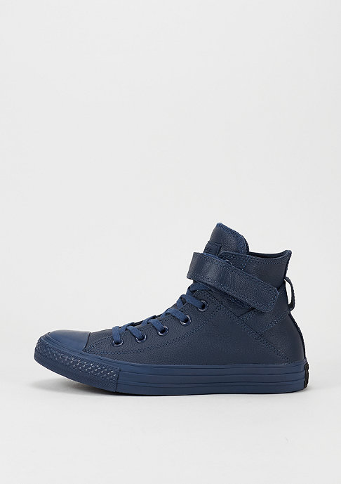 Converse Schoen CTAS Brea Mono Leather Hi navy