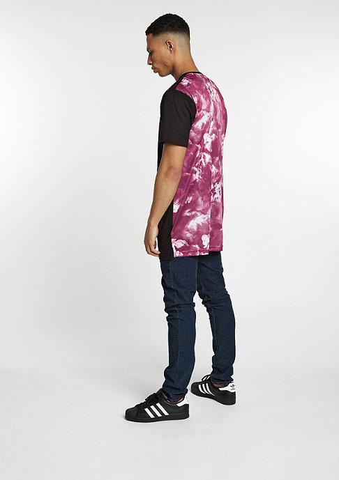 Cayler & Sons T-Shirt  Elevate Long black/maroon mc