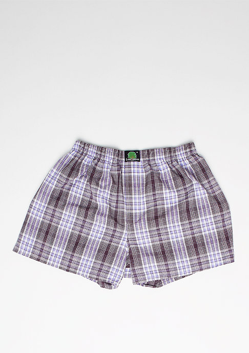 Treesome Boxershorts Plaid bordeaux/lilac/white