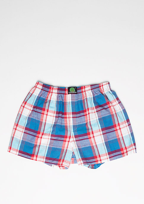 Treesome Boxershorts Plaid dark blue/red/light blue