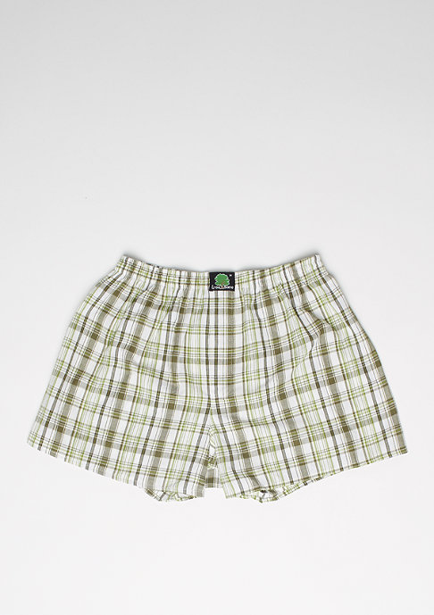 Treesome Boxershorts Plaid dark green/light green/white