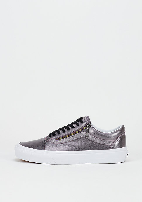 VANS Skateschoen Old Skool Zip Metallic Leather thistle purple/true white