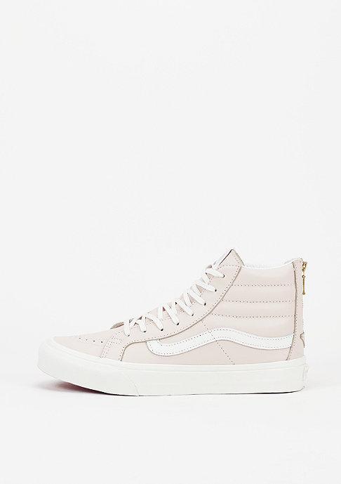 VANS Schoen Sk8-Hi Slim Zip Leather whispering pink/blanc de blanc