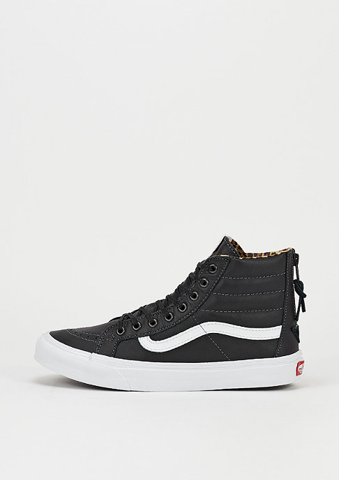VANS Skateschoen Sk8-Hi Slim Zip Leather black/leo