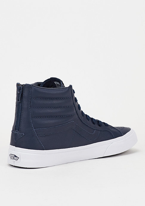 VANS Skateschuh Sk8-Hi Reissue Zip Premium Leather dress blue/true white
