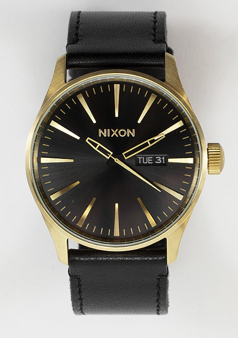 Nixon Sentry Leather gold/black