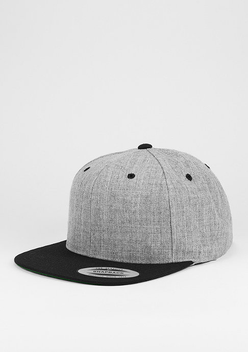 Flexfit Snapback-Cap Classic 2-Tone heather grey/black