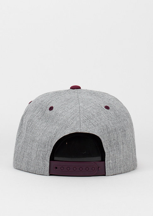Flexfit Classic 2-Tone heather grey/maroon