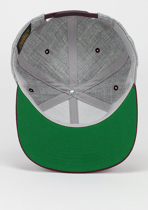Flexfit Snapback-Cap Classic 2-Tone heather grey/maroon
