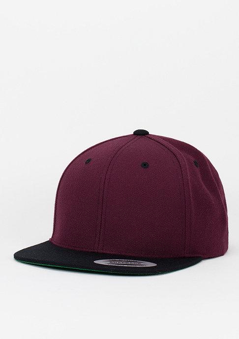 Flexfit Snapback-Cap Classic 2-Tone maroon/black