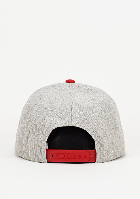 Brixton Rival light heather grey/red