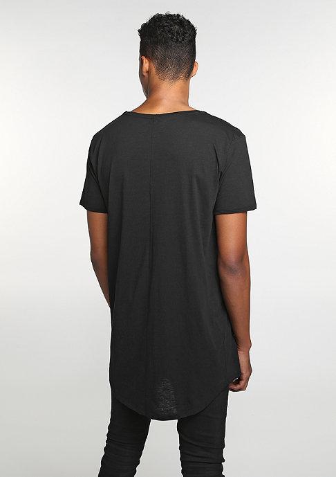 Urban Classics T-Shirt Long Back Shaped Slub black