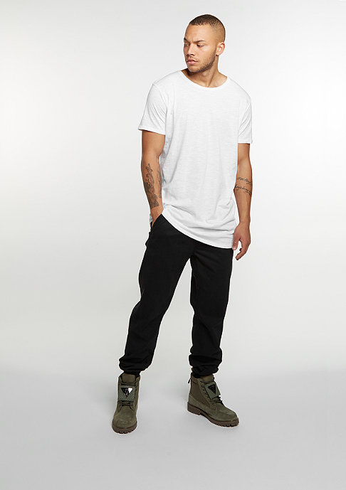 Urban Classics T-Shirt Long Back Shaped Slub white