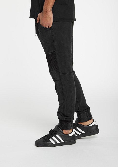 Urban Classics Fitted Acid Washed Biker Sweatpants black
