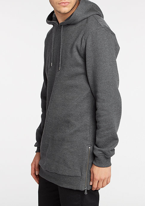 Urban Classics Hooded-Sweatshirt Long Side charcoal