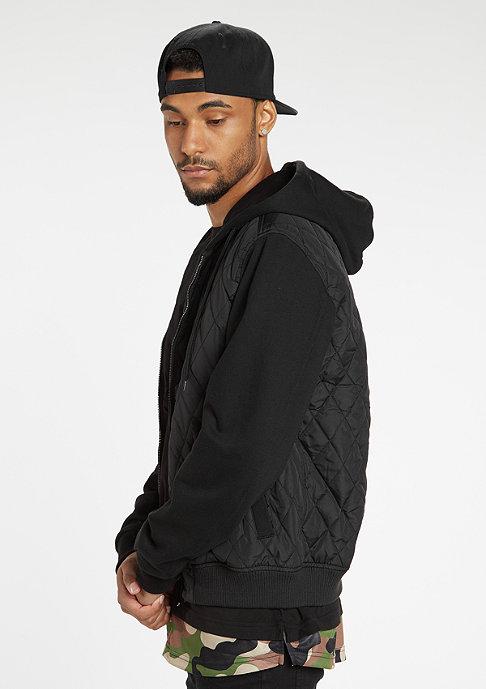 Urban Classics Jacke Hooded Diamond Quilt Nylon black/black
